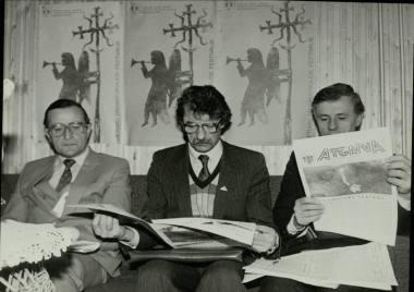 1988-aisiais Šiauliuose surengtas lietuviškos dramaturgijos festivalis ATGAIVA. Juozo Bindoko nuotrauka