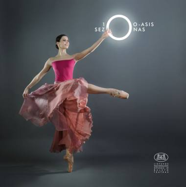 Baleto artistė Greta Gylytė. Plakatas iš LNOBT archyvo