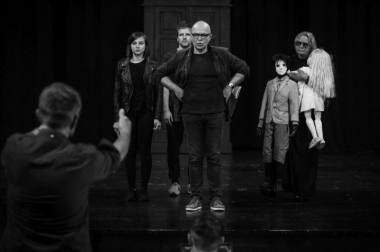 """Premjeros """"Sombras"""" repeticija, režisierius Gintaras Varnas. Donato Stankevičiaus nuotrauka"""