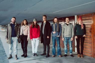 """Nacionaliniame Kauno dramos teatre kuriamo spektaklio """"Elektra"""" kūrybinė komanda. Maknicos Kranjec nuotrauka"""