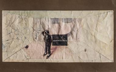 """Spektaklio """"Ten būti čia"""" scenovaizdžio projektas; režisierius Oskaras Koršunovas, dailininkai - Aidas Bareikis ir Julius Ludavičius. Dmitrijaus Matvejevo nuotrauka"""