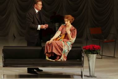 """Asmik Grigorian (Marieta) ir Klausas Florianas Vogtas (Paulis) operoje """"Miręs miestas"""". Teatro """"La Scala"""" archyvo nuotrauka"""