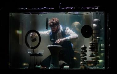 Akimirka iš muzikinio projekto po vandeniu AQUASONIC (Danija). Donato Bielkausko nuotrauka