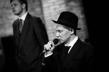 """Spektaklio """"Batsiuviai"""" (rež. Antanas Obcarskas) repeticija. Donato Stankevičiaus nuotrauka"""