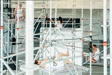 """Airos Naginevičiūtės instaliacija ir paroda """"Nėščia tyla"""". Dmitrijaus Matvejevo nuotrauka"""