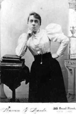 Emma Goldman. Apie 1900 m. kasteatre.wordpress.com archyvas