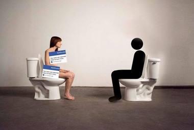 """Cenzūruota performanso """"Nuolankaus menininko akivaizdoje"""" reklama. Nuotrauka iš news.artnet.com"""
