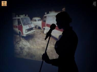 """Aktorė Eglė Špokaitė spektaklyje """"Černobylio malda"""". Tomo Stasevičiaus nuotrauka"""