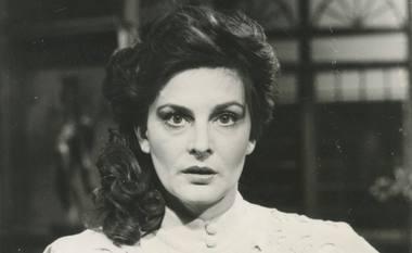Irena Kriauzaitė - Heda Gabler televizijos spektaklyje 1988 m. Rengėjų archyvo nuotrauka