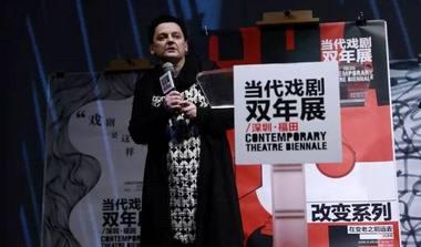 Choreografė Aira Naginevičiūtė Kinijoje. Šiuolaikinio šokio asociacijos archyvo nuotrauka