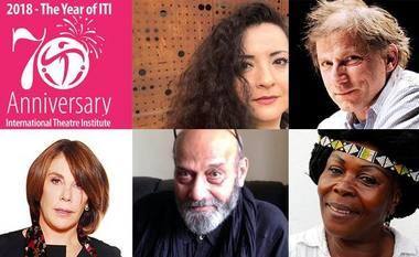 Teatro žinios autoriai: Maya Zbib (Libanas), Simon McBurney (Jungtinė Karalystė), Sabina Berman (Meksika), Ram Gopal Bajaj (Indija), Wèrê Wèrê Liking (Dramblio Kaulo Krantas). Nuotrauka iš iti-swiss.ch