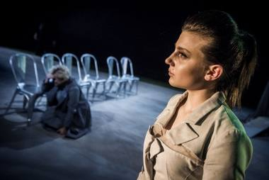 "Jovita Jankelaitytė (Šmit) spektaklyje ""Bestuburiada"". Dmitrijaus Matvejevo nuotrauka"