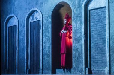 """Vaidas Bartušas spektaklyje """"Apreiškimas Marijai"""". Dmitrijaus Matvejevo nuotrauka"""