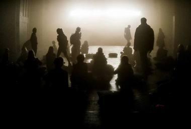 """Spektaklyje """"Juoda saulė"""". Dmitrijaus Matvejevo nuotrauka"""