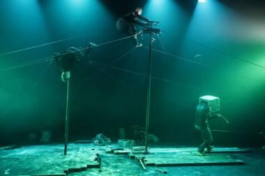 """""""Parazitai"""" (""""Galapiat Cirque"""", Prancūzija). Dmitrijaus Matvejevo nuotrauka"""