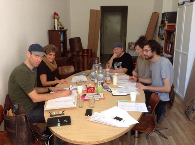 """""""Posesijos obsesija"""" kūrėjų susitikimas Berlyne. LNDT archyvo nuotrauka"""