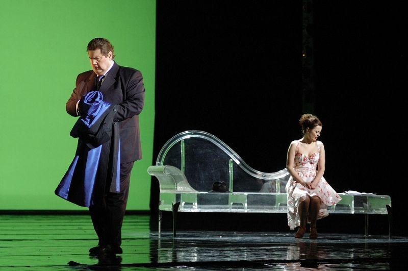 """""""Traviata"""". Žermonas – Arūnas Malikėnas, Violeta – Raminta Vaicekauskaitė. Martyno Aleksos nuotrauka"""