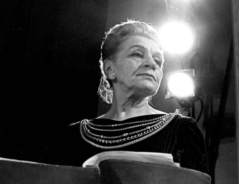 Mecosopranas Vincė Jonuškaitė-Zaunienė. Konkurso archyvo nuotrauka