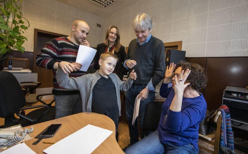 Karolis Norvila, Goda Simonaitytė, Romas Vikšraitis, Nikas Dmitrijevcevas ir Lina Dainienė. Pauliaus Lileikio nuotrauka