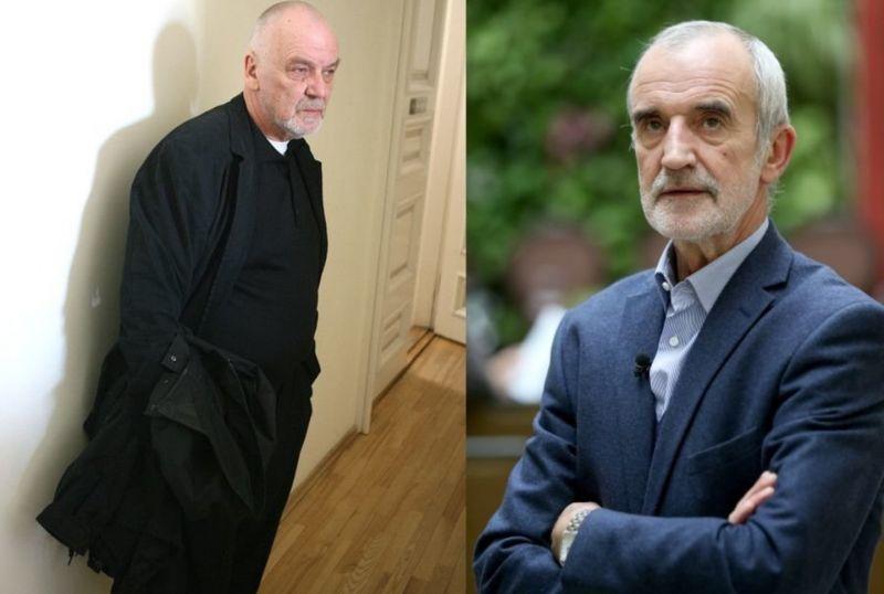 Režisierius R.Tuminas (dešinėje) Italijoje pastatė spektaklį E.Nekrošiui atminti. Ramūno Danisevičiaus nuotrauka