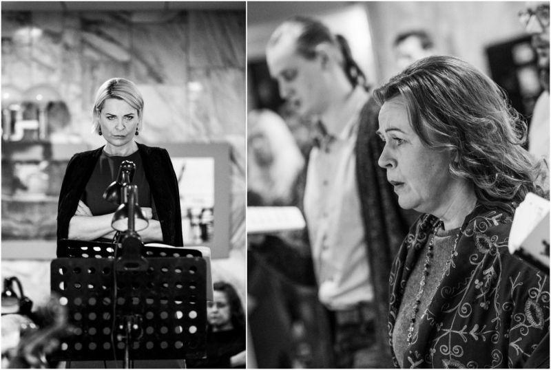 Ledi Makbet partijos atlikėjos - Raminta Vaicekauskaitė (kairėje) ir Gitana Pečkytė. D.Rimeikos nuotrauka