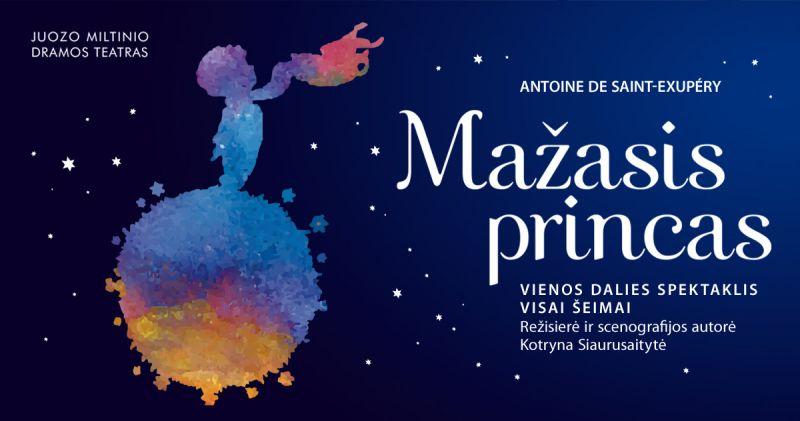 """Spektaklio """"Mažasis princas"""" plakatas"""