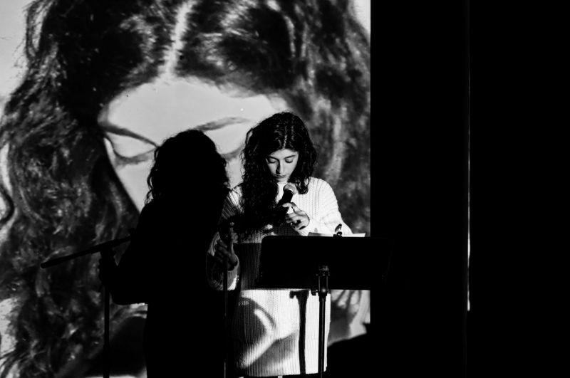 """I.Vyrypajevo pjesės """"Irano konferencija"""" skaitymas. Nuotrauka iš OKT archyvo"""
