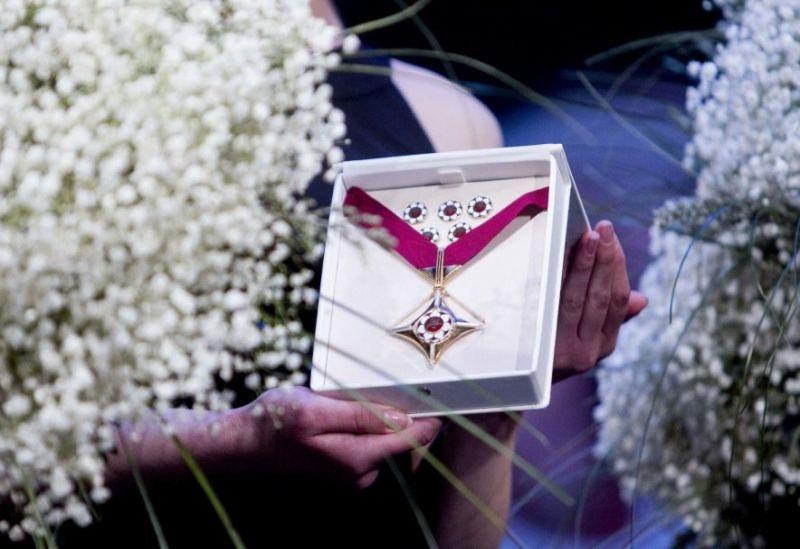 """Akimirka iš pernai metais vykusių """"Auksinių scenos kryžių"""" įteikimo ceremonijos. Irmanto Gelūno nuotrauka iš 15min.lt"""