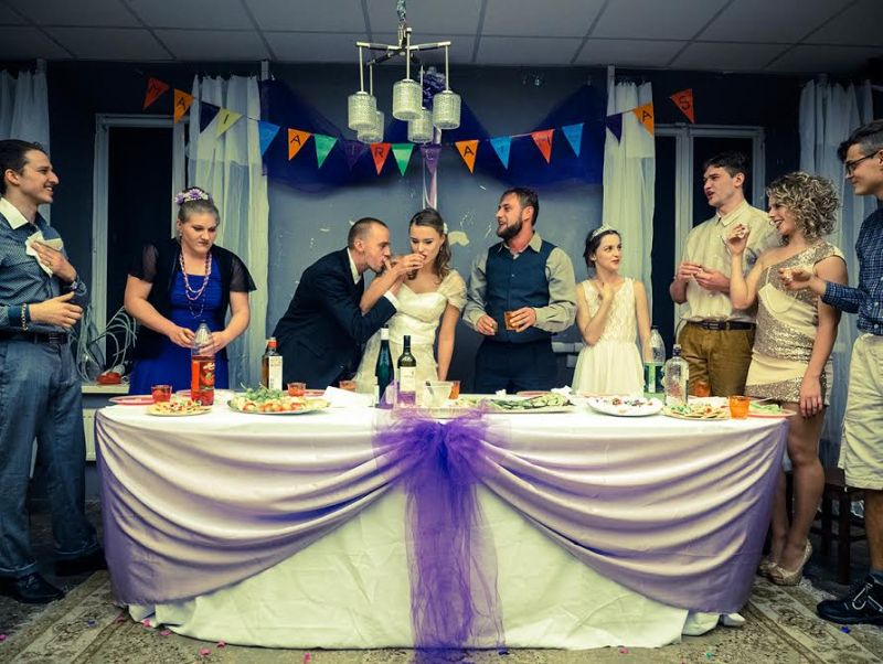 "Scena iš spektaklio ""Vestuvės"". Tomo Ivanausko nuotrauka"