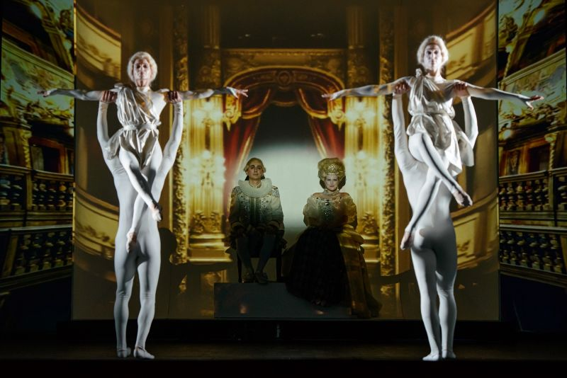 """Scena iš operetės ,,Karaliaus antrininkas"""". Nuotrauka iš KVMT archyvo"""