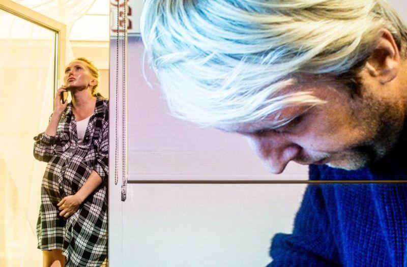 """Scena iš spektaklio """"Moters dalys"""", režisierius Kornélis Mundruczó (festivalis """"Sirenos"""", 2021). Dmitrijaus Matvejevo nuotrauka"""