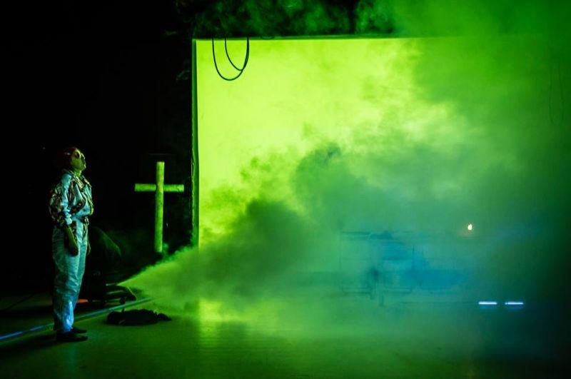 """Scena iš spektaklio """"Antikristas"""". AAT archyvo nuotrauka"""