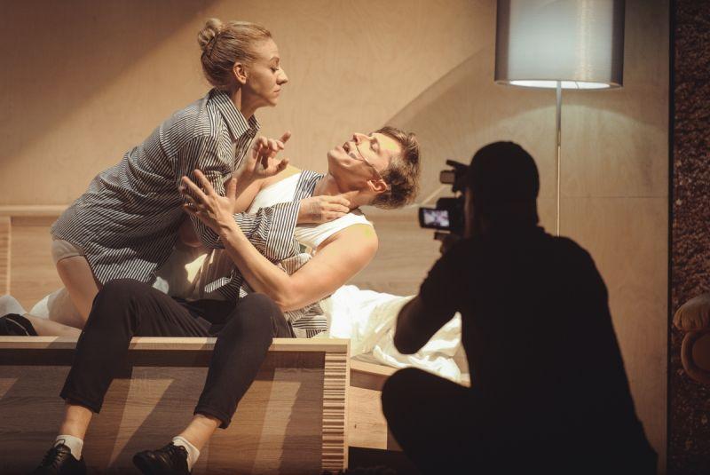 """Scena iš spektaklio """"Aklieji"""". Egidijaus Krikščiūno nuotrauka"""