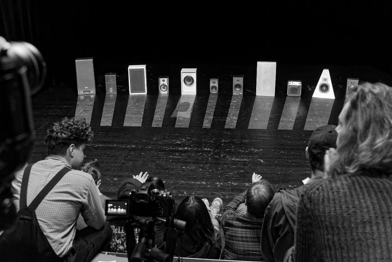 """Akimirka iš """"Olympian Machine"""", kompozitorius Arturas Bumšteinas. Martyno Aleksos nuotrauka"""