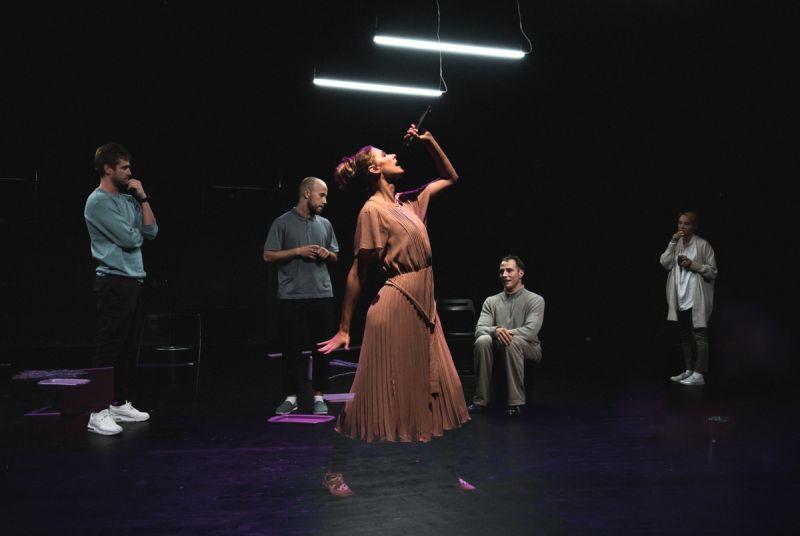 "Scena iš spektaklio ""SoDra, Mon Amour"", režisierius Gildas Aleksa. Donato Ališausko nuotrauka"