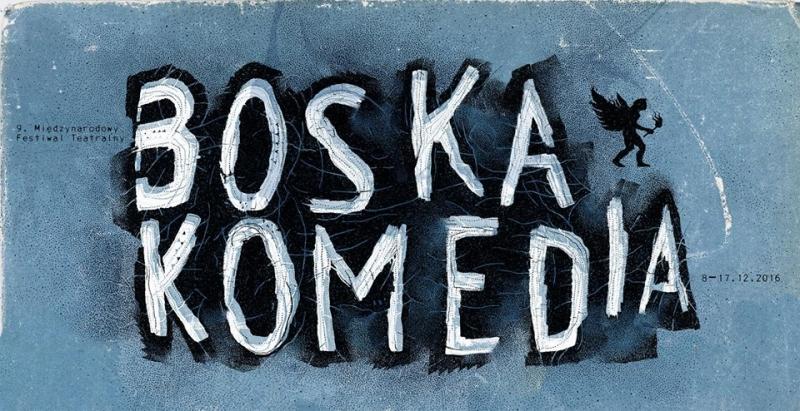 """Boska Komedia"" tarptautinio teatro festivalio logotipas"