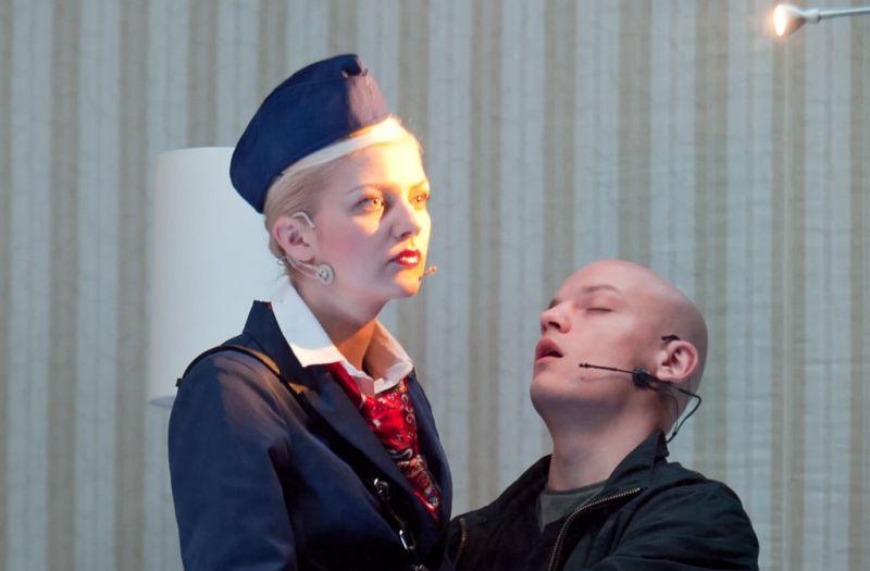 """Scena iš spektaklio """"Stavangeris. Pulp people"""". Rengėjų archyvo nuotrauka"""