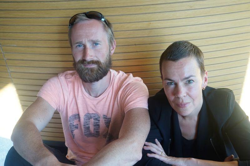 NO99 įkūrėjai menininkai Tiitas Ojasoo ir Ene-Liis Semper. Akvilės Melkūnatės nuotrauka
