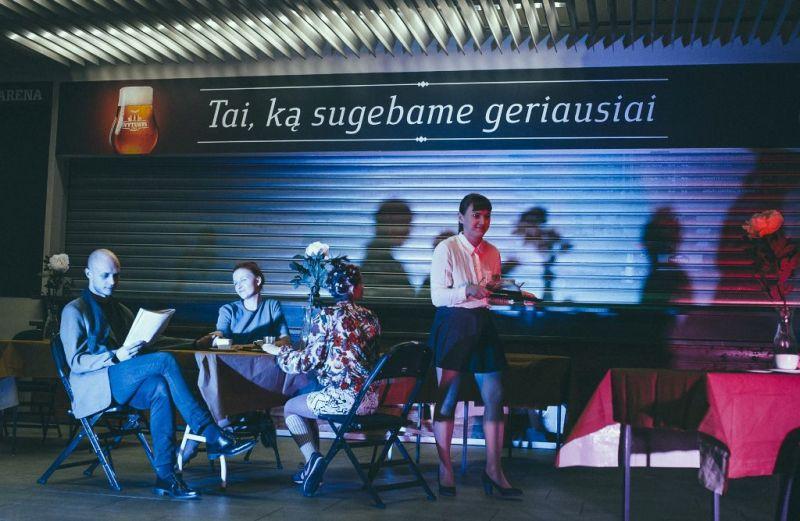 """""""Jauno teatro dienos"""", kūrybinių dirbtuvių pristatymas. Eglės Sabaliauskaitės nuotrauka"""