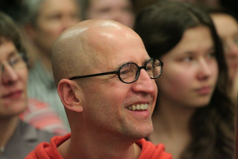 Aktorius ir improvizacijos mokytojas Andrius Žebrauskas. Asmeninio archyvo nuotrauka