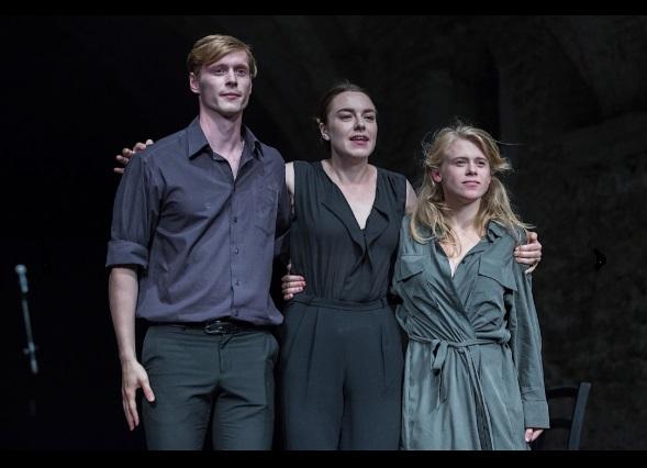 Petras Šimonis, Eglė Švedkauskaitė ir Kamilė Galkutė Spoleto festivalyje. Asmeninio albumo nuotrauka