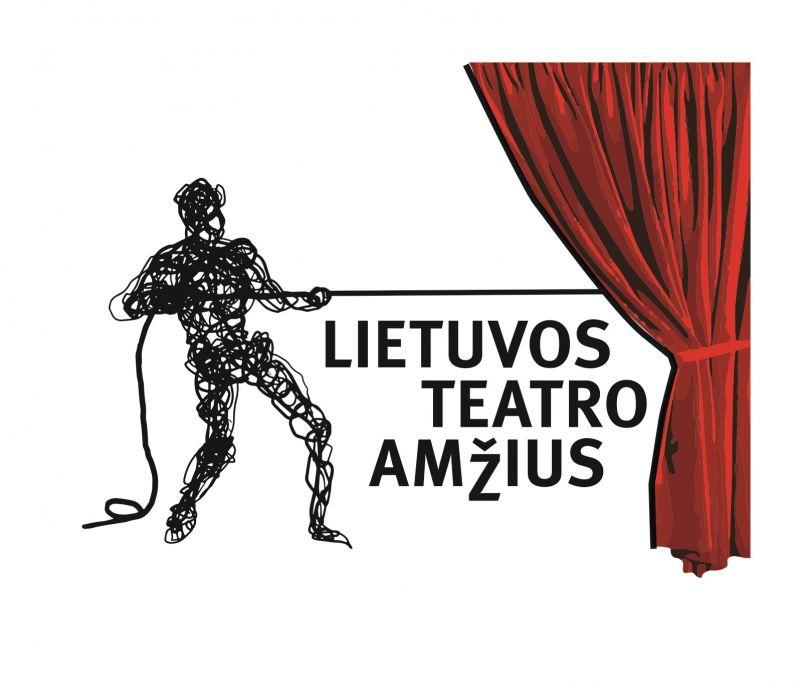 """Projektas """"Lietuvos teatro amžius"""". Liudo Parulskio logotipas"""