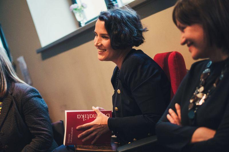 Dramaturgė, autorė Gabrielė Labanauskaitė. Organizatorių archyvo nuotrauka